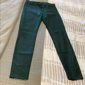 Hudson dark green premium skinny jean